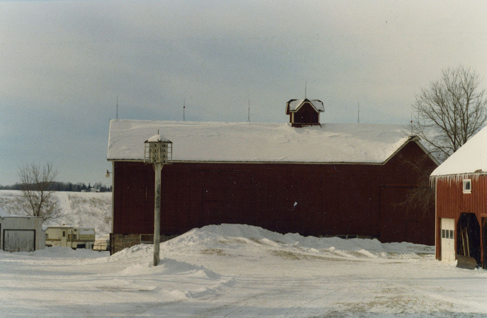The Barg Family Homestead in winter