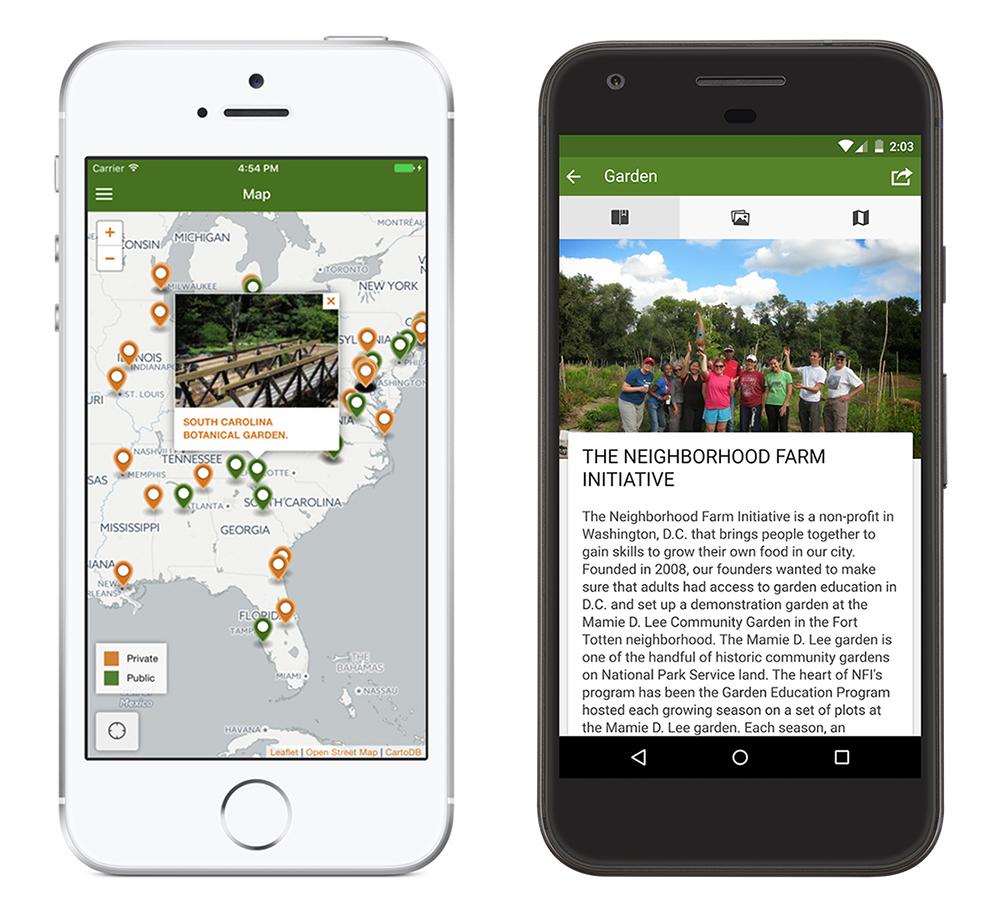 Community of Gardens mobile app
