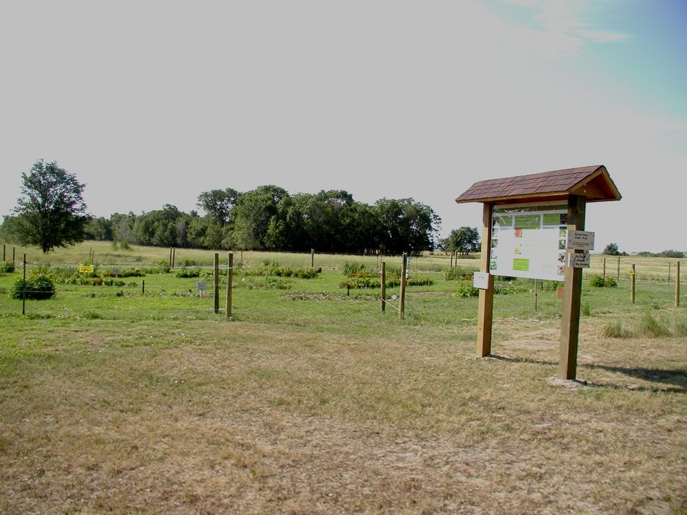 Oahe Downstream Recreation Area butterfly garden