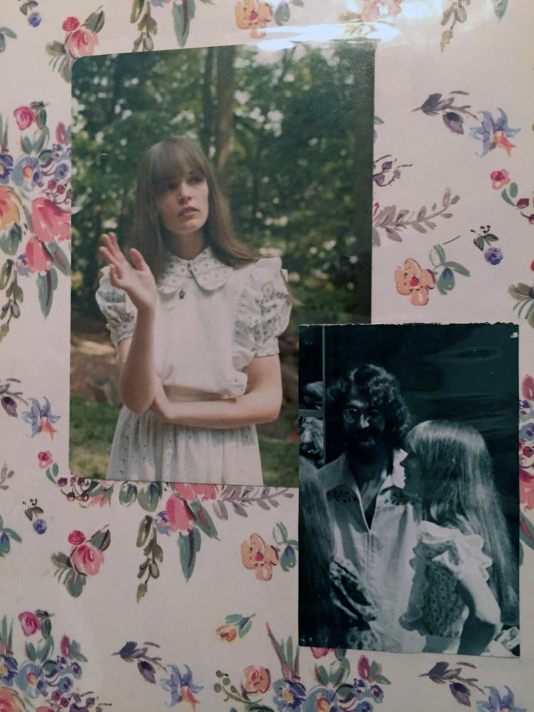 A page from Camy and Larry's wedding scrapbook of their June 2, 1973 backyard wedding in Gaithersburg, Maryland.