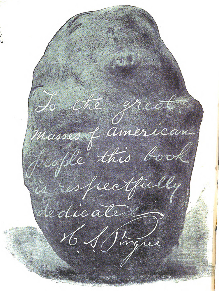 Image of a potato from Pingree's autobiography, <em>Facts and Opinions or Dangers that Beset Us</em>, 1895.