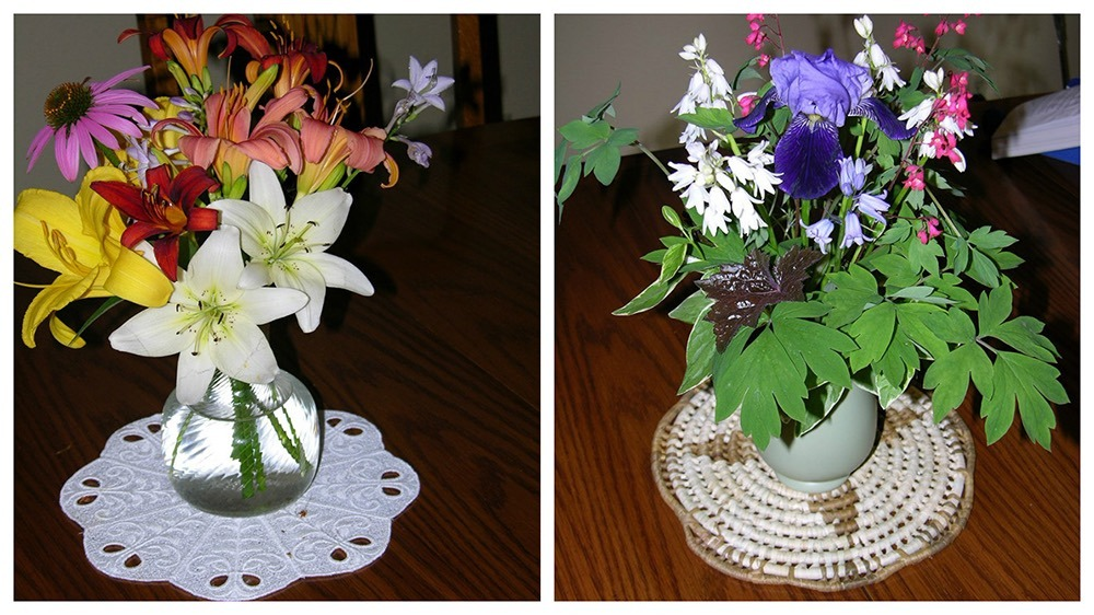 Garden bouquets from the author