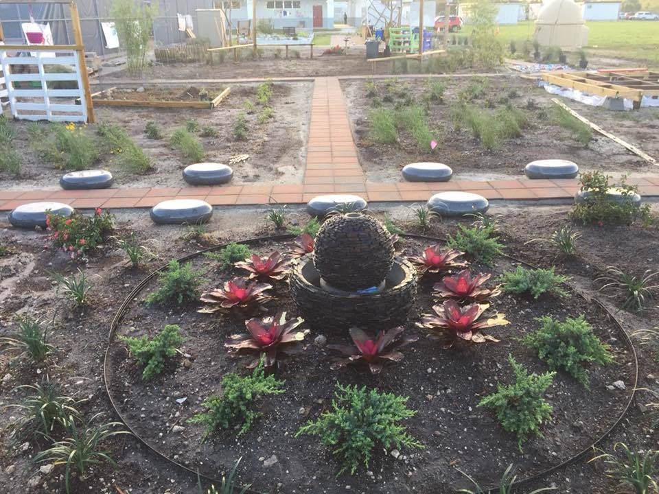 The reflection garden in spring 2018
