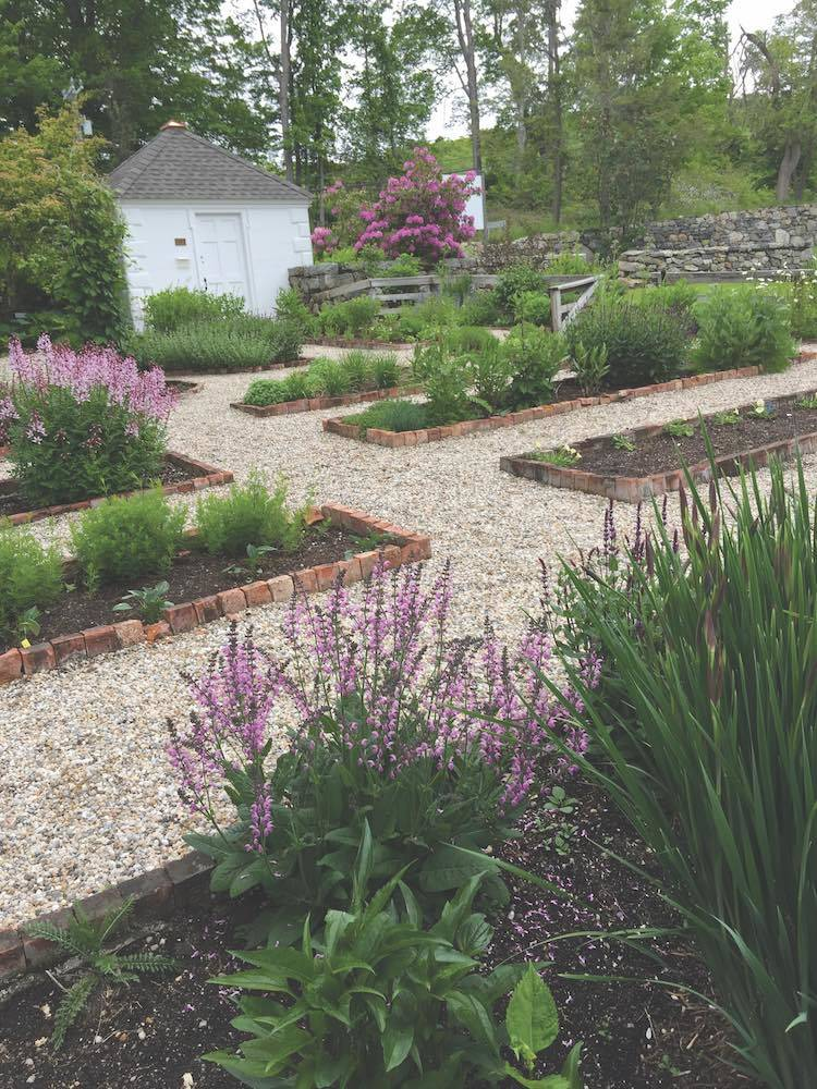 The pollinator garden in May 2017