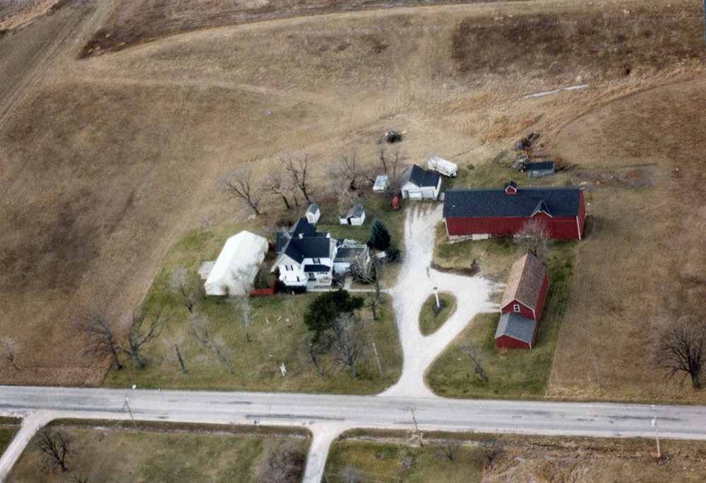 Aerial view of the Barg Family Homestead