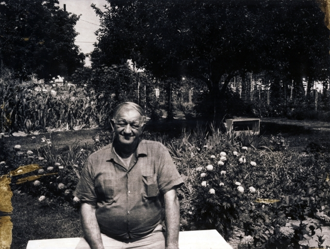 My grandfather Harry Sr. in his garden in Colonial Beach, Virginia, 1960s.