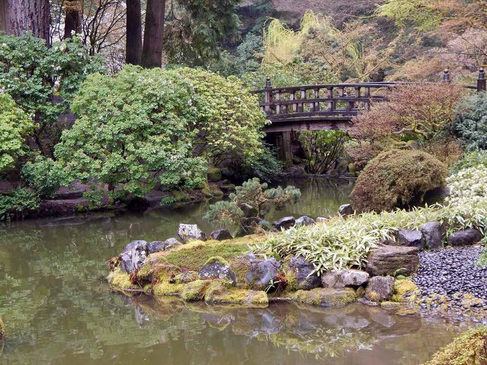 The Moon Bridge in the Strolling Pond Garden