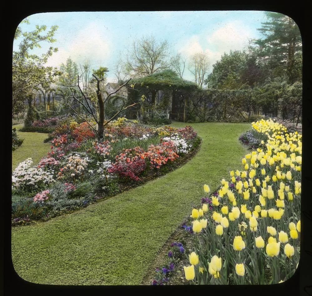 McFarland's garden at his home, Breeze Hill, in Harrisburg, Pennsylvania, 1932.