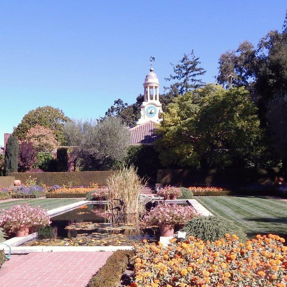 The formal gardens at Fioli
