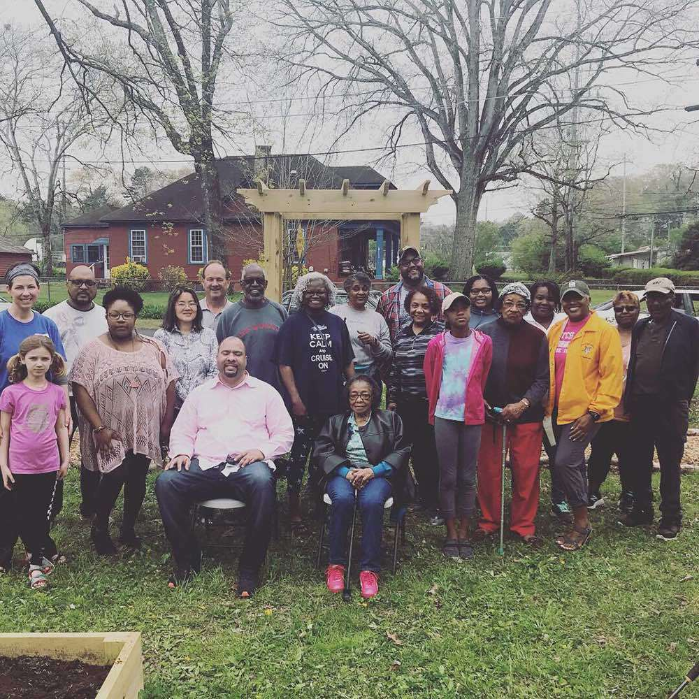Volunteers built the garden from the ground up