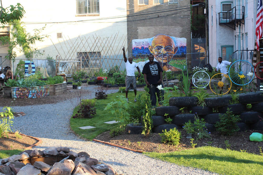 The Gandhi Garden creates sense of community through neighborhood beautification and engagement.