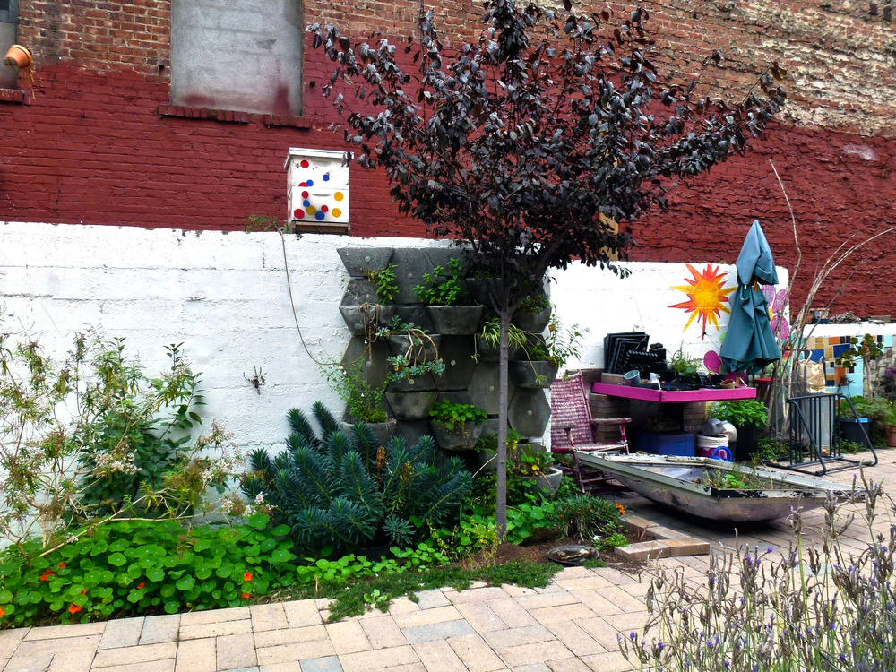 """Engaging the community through the act of building a garden provided a way of blending contemporary art, political activism, and community engagement."" —Gk Callahan. Photo by Gk Callahan, 2014."