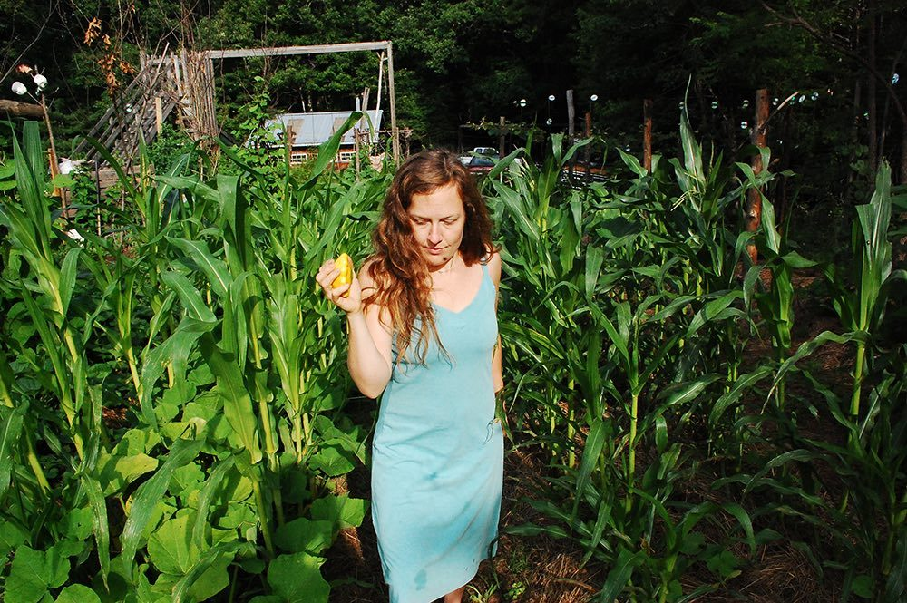 Laura in a field of corn