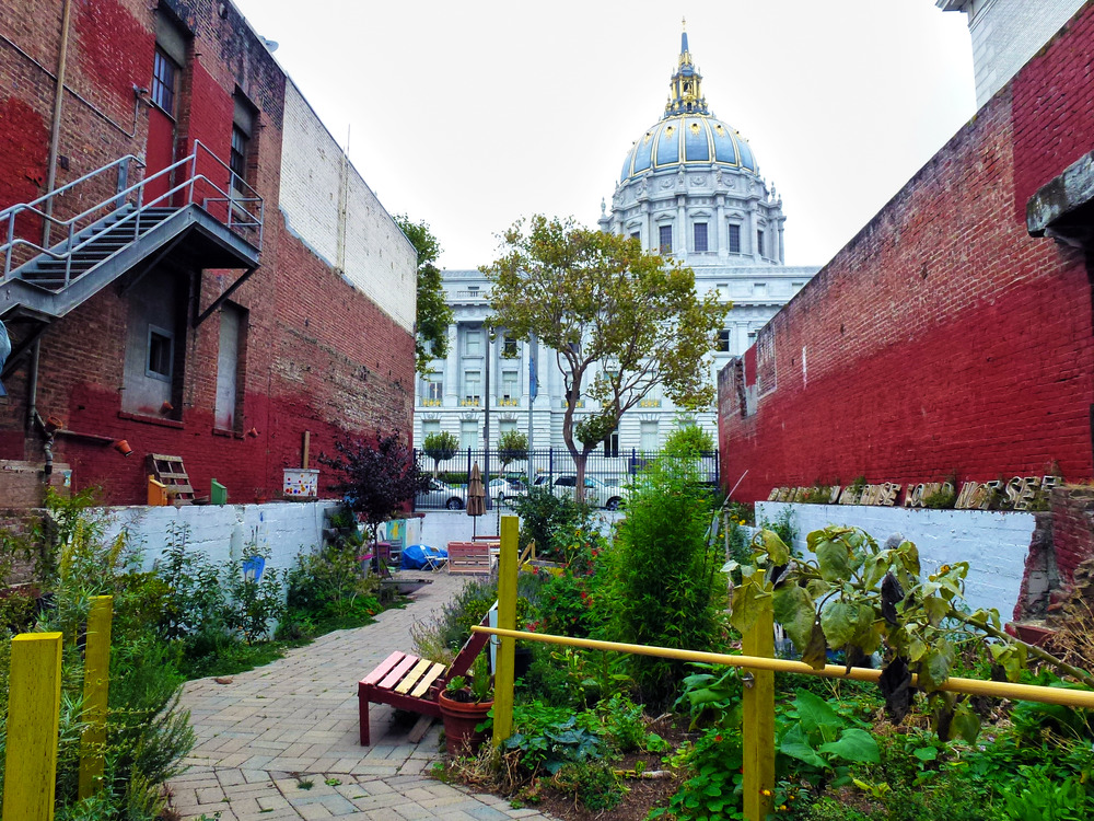 <p>At any moment the City of San Francisco may reclaim the lot and repurpose the space, but for now the members of the Please Touch Community Garden want to use the space constructively for community building. Photo by Gk Callahan, 2014.</p>