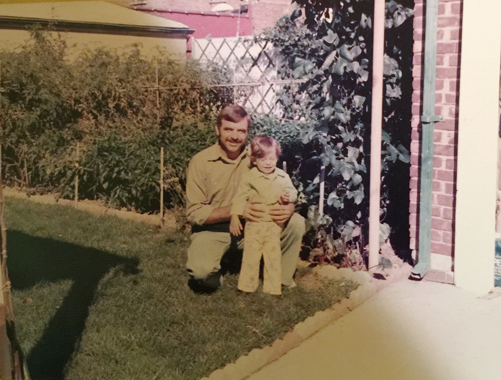 My dad Nicola with my brother Anthony, 1977.
