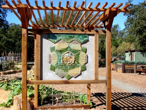 The Seedlings Donor Board at Lafayette Community Garden in Lafayette, California.