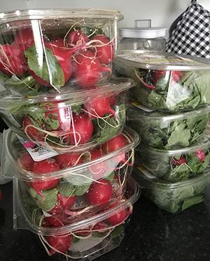 Fresh vegetables ready for distribution
