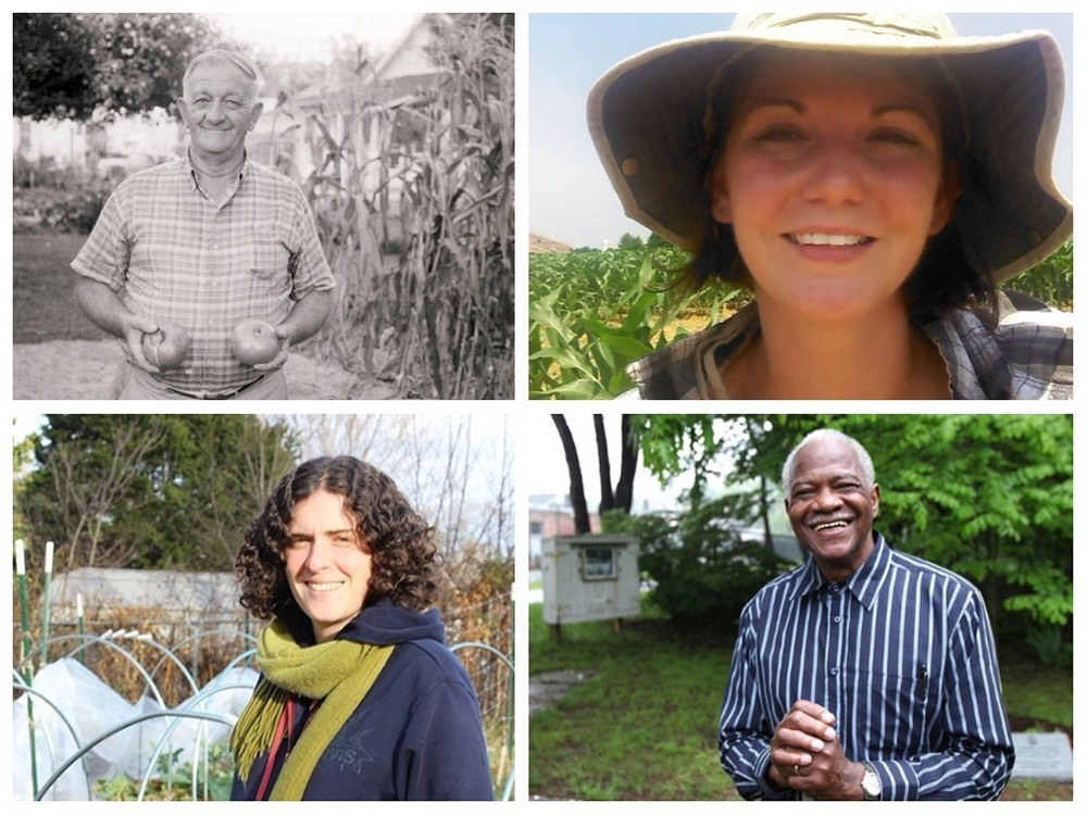 Collage of gardeners included in the Community of Gardens digital archive.