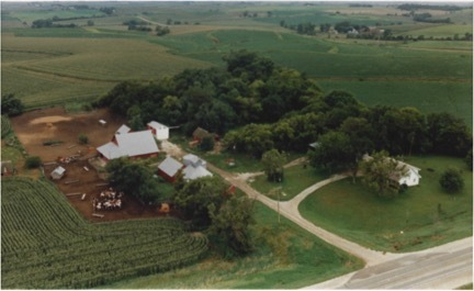 Aerial view of Beermann farm.