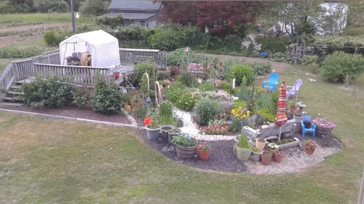 Second floor view of the Westport, Massachusetts garden