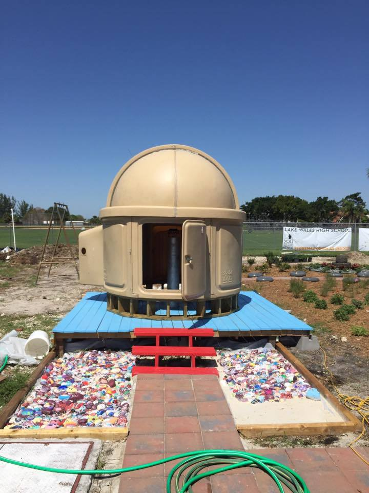 The newly-completed observatory