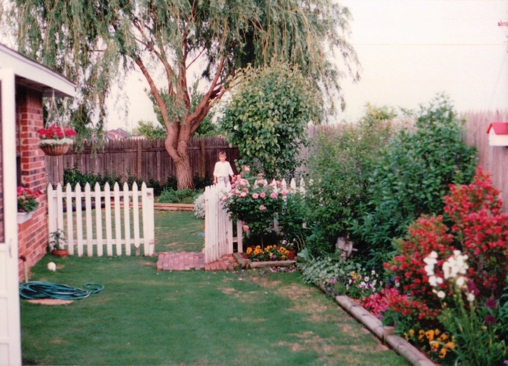 The author's first garden