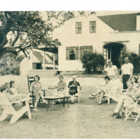 The early 1950s: afternoon lemonade under an apple tree.