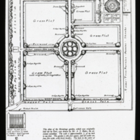 Plan drawing by Mr. A. J. Baker of Hermitage Garden, Tennessee. Glass lantern slide, c. 1934. Archives of American Gardens.