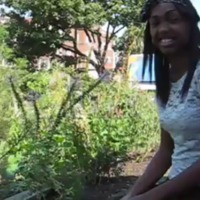 Kaneeka speaks about her favorite things to do in the garden at the Bruce House in Washington, D.C.